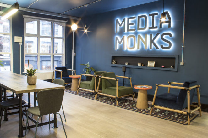 London office MediaMonks | Studio Van Doorn | Interior and Design. Creating  spatial designs for private houses and commercial buildings Interior  design, furniture & lightning design, exhibition design, object.  sustainable circuliare interior architect.